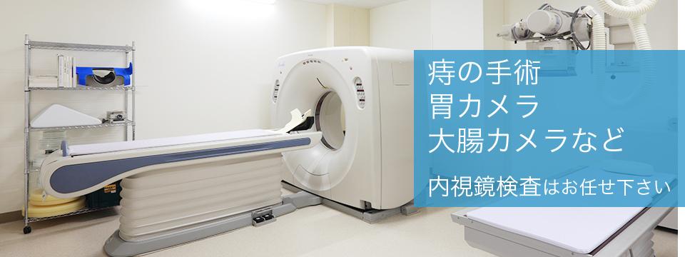 痔の手術 胃カメラ 大腸カメラなど 内視鏡検査はお任せ下さい